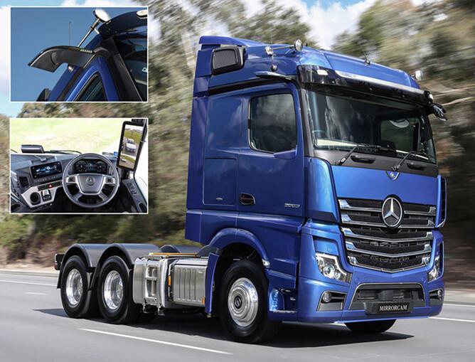 Mercedes Benz Trucks >> New Mercedes Benz Truck Mirrorcam Action Trucks And
